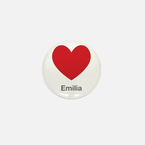 Emilia Big Heart Mini Button