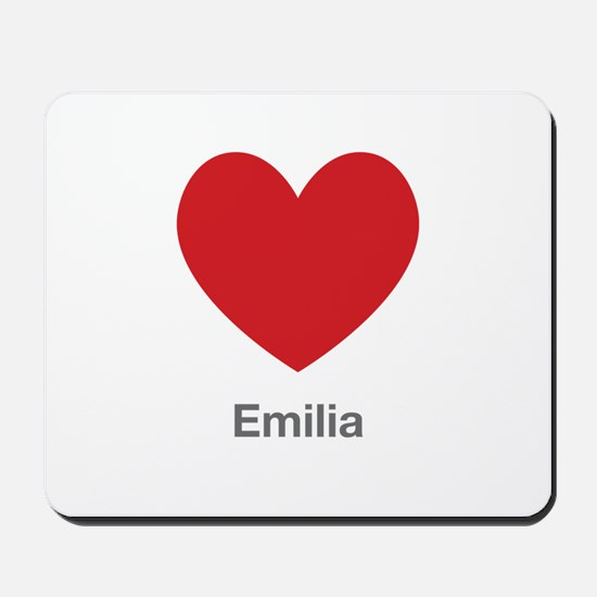 Emilia Big Heart Mousepad