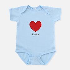 Emilia Big Heart Body Suit