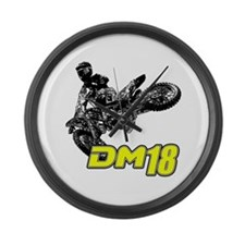 Dm18bike Large Wall Clock