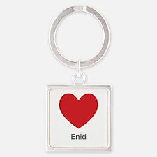 Enid Big Heart Square Keychain