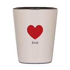Enid Big Heart Shot Glass