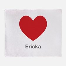 Ericka Big Heart Throw Blanket