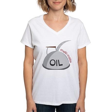 Motor Oil Can Women 39 S V Neck T Shirt Motor Oil Can T Shirt