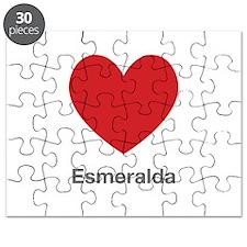 Esmeralda Big Heart Puzzle