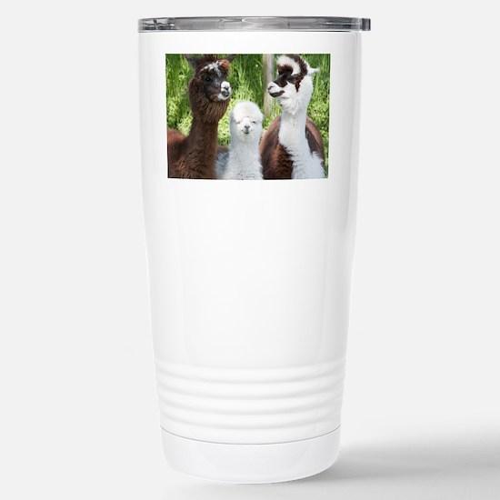 Three different alpacas - Stainless Steel Travel M