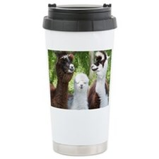 Three different alpacas - Travel Mug