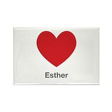 Esther Big Heart Rectangle Magnet