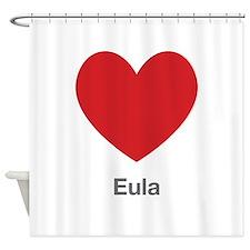 Eula Big Heart Shower Curtain