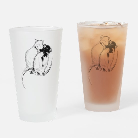 Rat Hug Drinking Glass