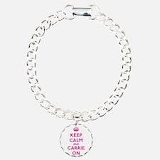 Keep Calm and Carrie On Bracelet