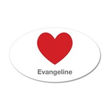 Evangeline Big Heart Wall Decal