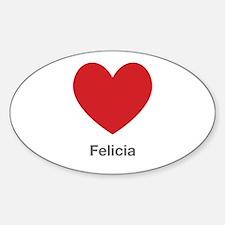 Felicia Big Heart Decal