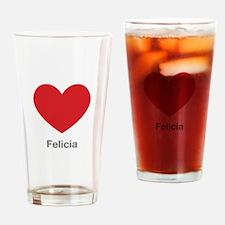 Felicia Big Heart Drinking Glass