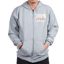 Modern New York Skyline Zip Hoodie