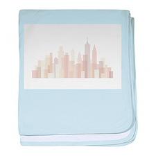 Modern New York Skyline baby blanket