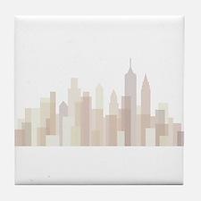 Modern New York Skyline Tile Coaster
