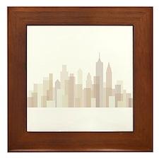 Modern New York Skyline Framed Tile