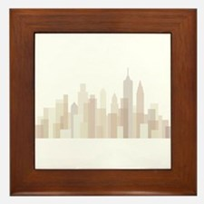 Modern New York Skyline Framed Tile