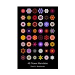 48 Flower Mandalas (11x17 Poster)
