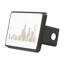 Modern Chicago Skyline Hitch Cover