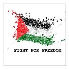 "Fight For Freedom Square Car Magnet 3"" x 3"""