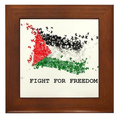 Fight For Freedom Framed Tile
