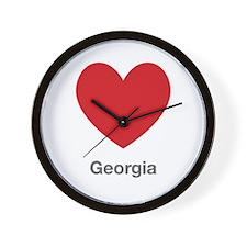 Georgia Big Heart Wall Clock