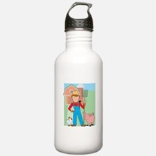 Farmer and Pig Water Bottle