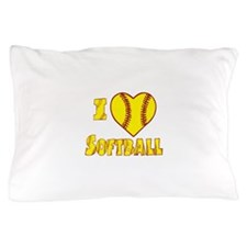 Cute I love curling girl Pillow Case