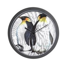 Emperor Penguins Wall Clock