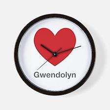 Gwendolyn Big Heart Wall Clock