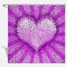 Big Heart Pop Art Shower Curtain