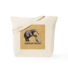 Vintage circus elephant doing tricks Tote Bag