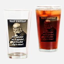 O Captain My Captain - Whitman Drinking Glass