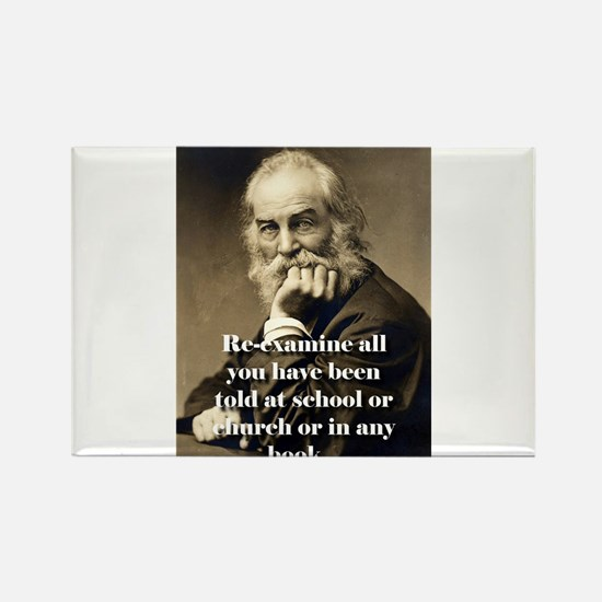 Re-Examine All You Have Been Told - Whitman Magnet