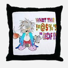 DECAF Throw Pillow
