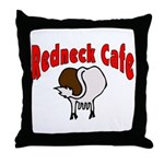 Redneck Cafe Throw Pillow