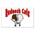 Redneck Cafe Rectangle Sticker