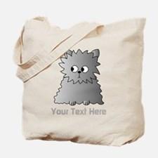 Gray Persian Cat. Text. Tote Bag