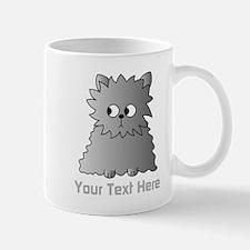 Gray Persian Cat. Text. Mug