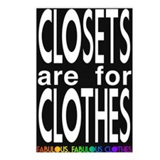 Closets are for Clothes Dark Postcards (Package of