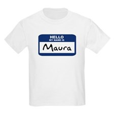 Hello: Maura Kids T-Shirt