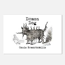 Demon Dog vintage funny doggie Postcards (Package