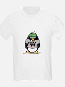 Poker Penguin Kids T-Shirt