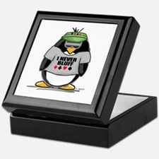 Poker Penguin Keepsake Box