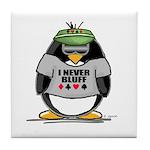 Poker Penguin Tile Coaster