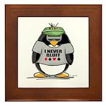 Poker Penguin Framed Tile