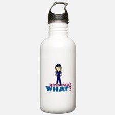 Police Woman Water Bottle