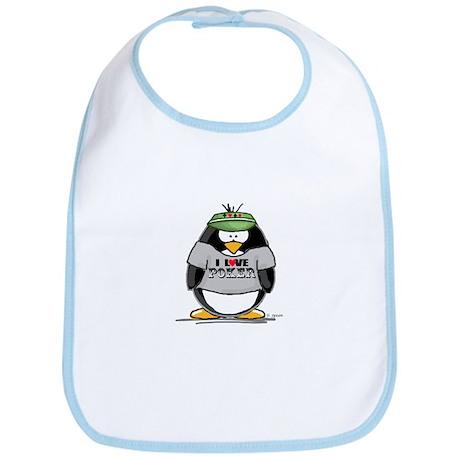 Love Poker Penguin Bib